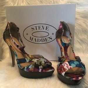Steve Madden Haylow Floral T-Strap Heels